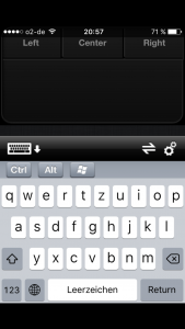 Screenshot der App TouchMouse