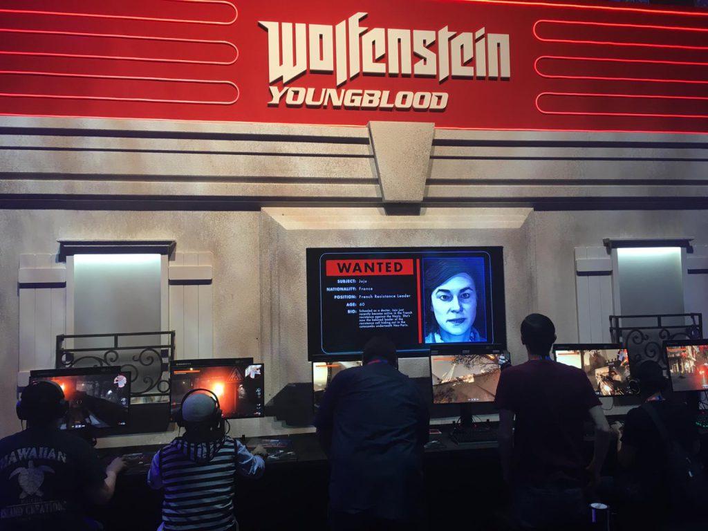 Eine Anspiel-Station von Wolfenstein Young Blood.